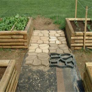 Garden Lawn Floor Paving Mold DIY Patio Step Stone Path Maker Mould B