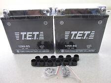 (2) x 12V 9AH TET Battery For Gas Dirt Bike Go-Kart 150cc 250cc NO ELECTROLYTE