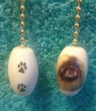 """One Pekingese Fan Pull With Paw Prints On The Back 1"""""""