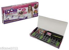 loom bands children's  rainbow bracelet making kit charm rings new bandz craze