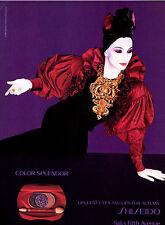 1985 Shiseido Serge Lutens Color Splendor makeup MAGAZINE AD