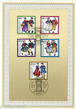 ALLEMAGNE FEDERALE, RFA, 1993, COSTUMES, timbres 1528/1532, DOCUMENT 1° JOUR