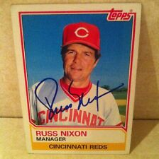 1983 Topps Russ Nixon Auto Signed Card