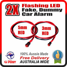 RED 5mm + RED 3mm Flashing LED Fake Dummy Car Alarm Light - STOP THIEVES