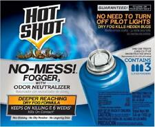 3 Ct Hot Shot No-Mess! Fogger w/ Odor Neutralizer Bed Bug Bomb Insect Killer