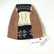 NWT Comme des Garcons JAPAN Men's Tan Stocking Knit Patchwork Beanie AUTHENTIC