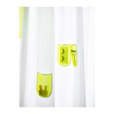 IKEA SPRUTT Shower Curtain White Yellow Pockets 71 X Bath Bathroom