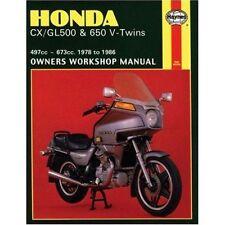 Honda CX/GL500 & 650 V-Twins (78 - 86) by Haynes Publishing (Paperback, 1988)