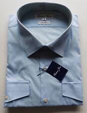 mens FORMAL SHIRT RICHARD JONES CLASSIC FIT 19 48 POLY/ Cotton new tags BLUE
