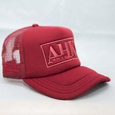 MAROON UNISEX GENUINE AHK SNAPBACK TRUCKER BASEBALL CAP MESH ADJUSTABLE HAT CAPS