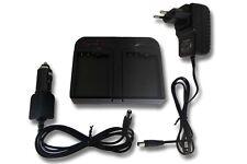 Dual Caricabatteria AC Adatattore e per auto per Nikon EN-EL15, 1 V1