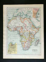 Antique Map Of Africa Congo Transvaal Cape Colony  1906