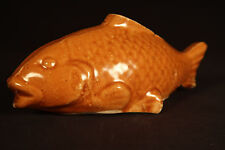RARE ANTIQUE FISH BANK ROCKINGHAM GLAZE YELLOW WARE