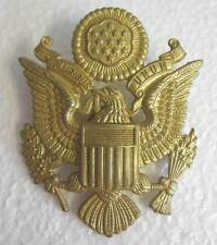US Army Air Force Cap Badge Officer Visor Peaked AAF WW2 WWII Eagle Lightly Aged