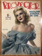 Magazine Proyector 1936 Ginger Rogers.jean Harlow.Gary Cooper.barbara Stanwyck