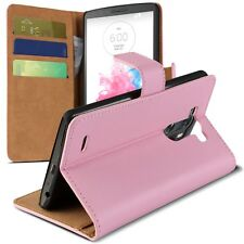 Housse Etui Portefeuille Folio Stand Pour LG G3 Cuir Eco Executive Rose  HD