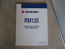 Suzuki RM 125, Instruction Manual, Manuel de servicio del Propietario, 2007