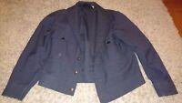 Vtg 50s Work Jacket 42 R ~ L GABARDINE ricky DATED 1955 ~ UNION MADE gas station
