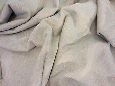 Vintage TAN & BLUE Slubby NUBBY Texture Drapery UPHOLSTERY FABRIC Cloth 2 3/8 Yd
