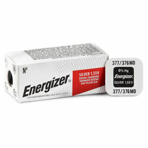 1 X Energizer 377 376 Batteria Ossido D'Argento 1.55V SR66 SR626SW Orologio