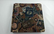 Creative Memories 12x12 Travel Tapestry Passport Scrapbook Album 15 Pgs