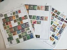 Malta stamp collection on 5 pages - mint and used - please see photos