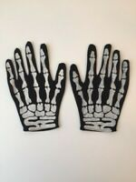 Halloween - Gants de Squelette Adulte Noir et Blanc