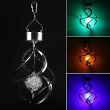 Solar Powered Wind Chimes Light LED Garden Hanging Spinner Lamp 7 Color Changing