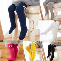 NEW 1Pair Cotton Blend Baby Kids Girls Toddlers Knee High Socks Tights Leg Socks
