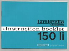 Lambretta Li150 Series 3 Instruction Manual