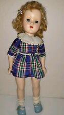 """Vintage 1950's Hard Plastic 15"""" Toni Lookalike Doll Unmarked"""