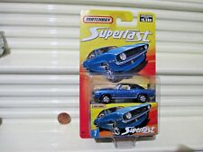 Matchbox 2006 SUPERFAST #7 Blue 1969 Chevrolet Camaro Z28 Car New in BubblePack