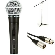 Shure SM58S Handheld Microphone with Stand and Cable