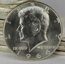 BU Roll of 20 1964 Kennedy Half Dollar 90% Silver Coins