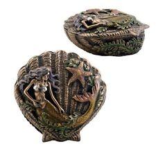 Mermaid Shell Trinket Box Statue Sculpture - New in Box