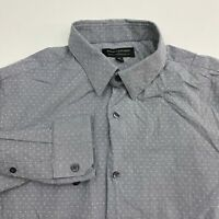 Banana Republic Button Up Shirt Men's Size Medium Long Sleeve Gray Slim Fit