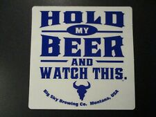 Beer STICKER ~ LEWIS /& CLARK Brewing ~ Helena Montana ~ Discover the Difference