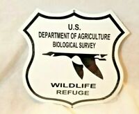 "16/"" USFS forest service shield Ranger agriculture green logo Ad USA steel sign"