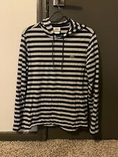 Lacoste Men's Small Size 3 Stripped Long Sleeve Hoodie Shirt