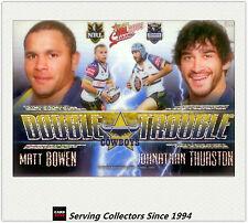 2009 Select NRL Classic Double Trouble Acetate Card DT10 Thurston/Bowen-Rare