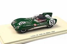 LOTUS XI 750 14TH LE MANS 1957 ALLISON HALL 1:43 SPARK S4399 NEW RESIN MODEL