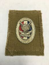 EAGLE SCOUT PATCH TYPE 1-C VERY RARE VARIETY HAS DARK GREY EAGLE AND OVAL