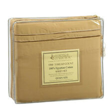 1500 TC THREAD COUNT LUXURY EGYPTIAN COTTON SHEET SET QUEEN SIZE CAMEL BROWN