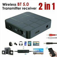 2-in-1 Bluetooth5.0 Wireless Audio Transmitter Receiver Adapter RCA AUX HIFI MP3