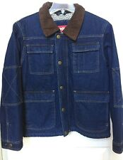 Wrangler Men's Sherpa Lined Denim Jean Jacket Coat Size Small