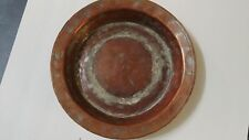 Antique Turkish Ottoman Tin Copper Plate Tray Marked Islamic RARE Signed