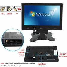 "US -7"" Inch LCD CCTV PC Monitor Screen W/Speaker AV/VGA/HDMI for DSLR Raspber PI"