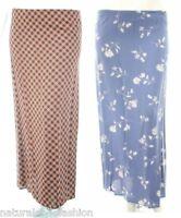 Womens size 12 - 24 Blue White floral long pencil skirt Orange Black check print