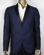 $2550 Gucci Men's Blue Silk Gabardine Dylan 60 Evening Jacket 52R 322707 4240