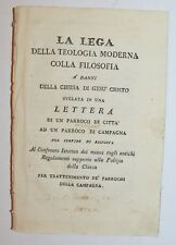 TEOLOGIA - FILOSOFIA - ediz. 1790 - raro - bonola - lega